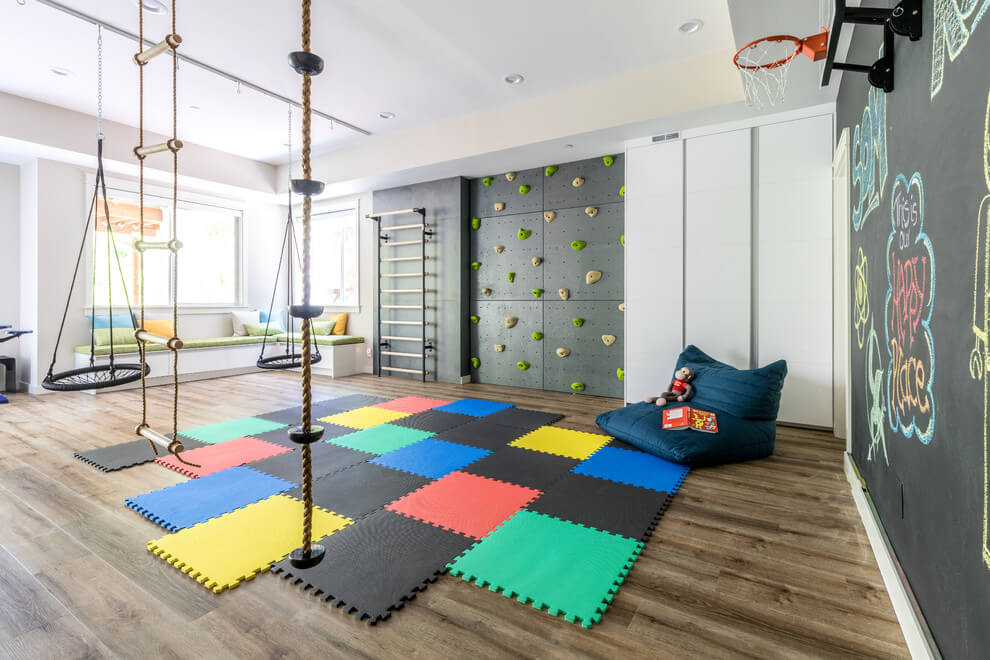 Ideas for an active montessori playroom