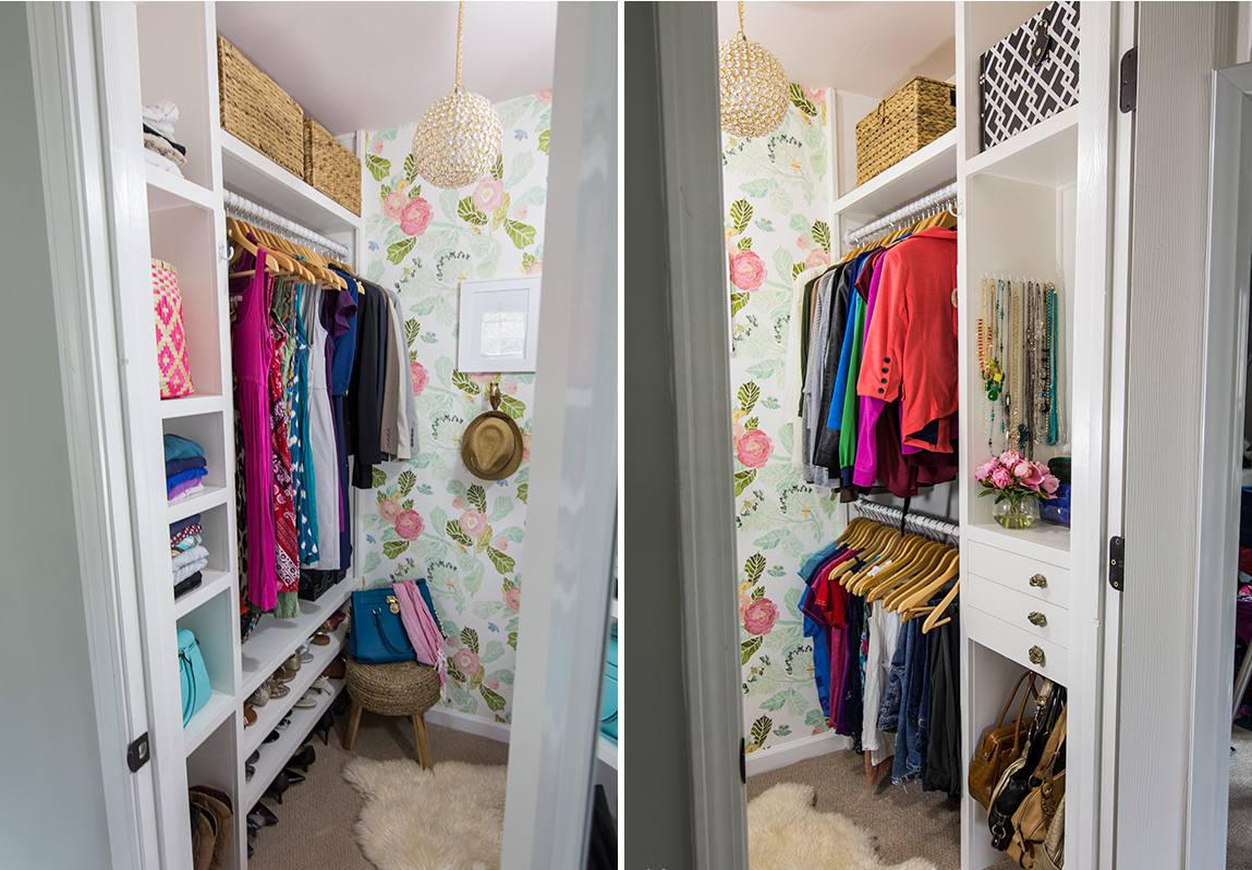 20+ Incredible Small Walk-in Closet Ideas & Makeovers